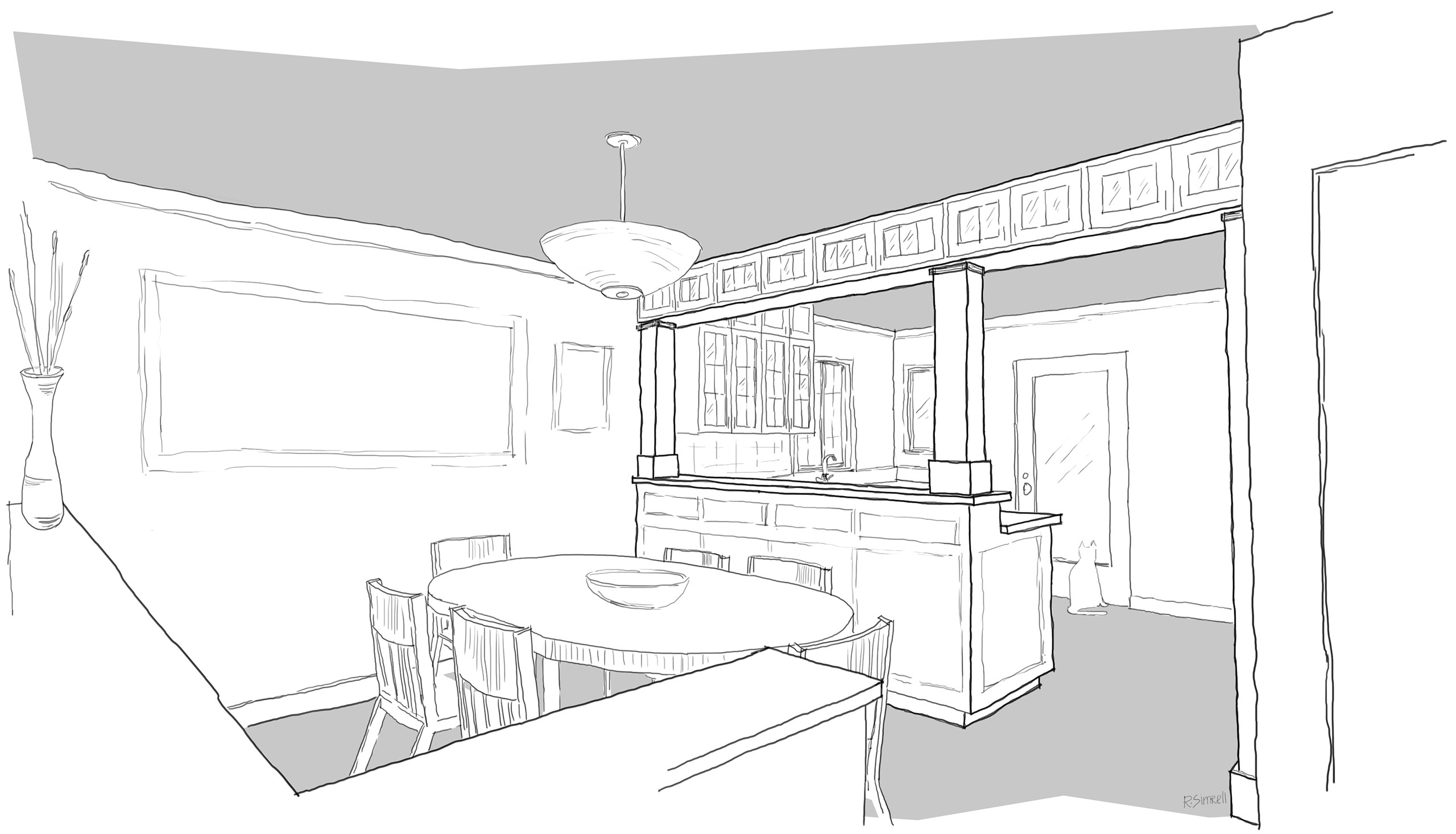 92nd Street Remodel U0026 Addition: Early Design Sketches   Shaping Space With  Casework