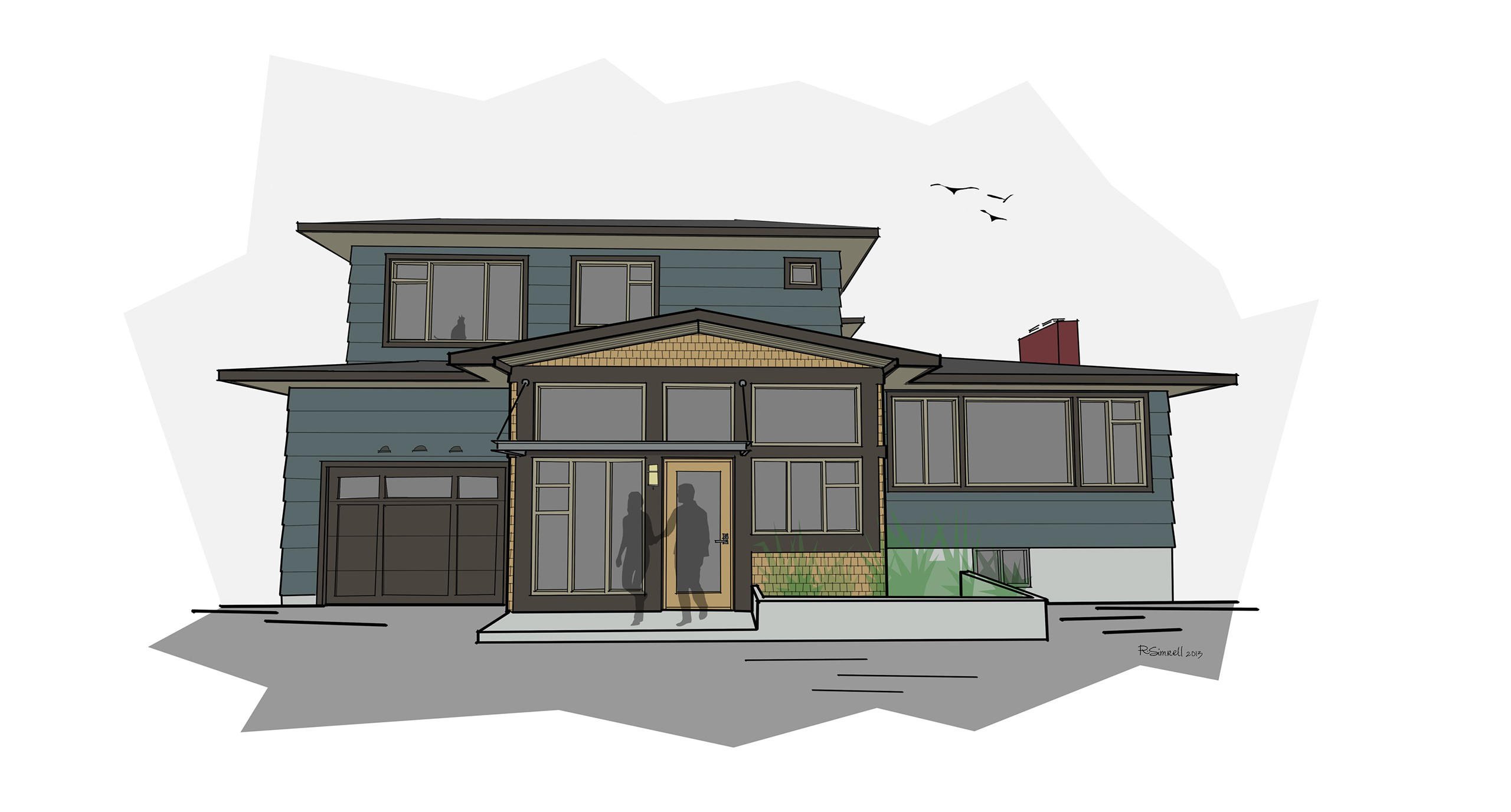 Early Design Sketches 92nd Street Remodel Addition Emerald Seven